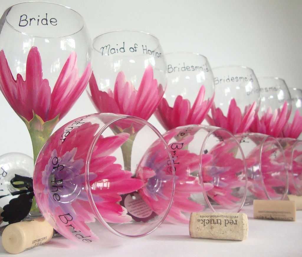 Flickr | Denenecek Projeler | Pinterest | Bridesmaid wine glasses ...