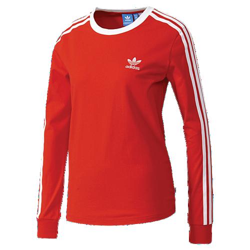 2c532093 adidas Originals 3 Stripes Long Sleeve T-Shirt - Women's | Julia's ...