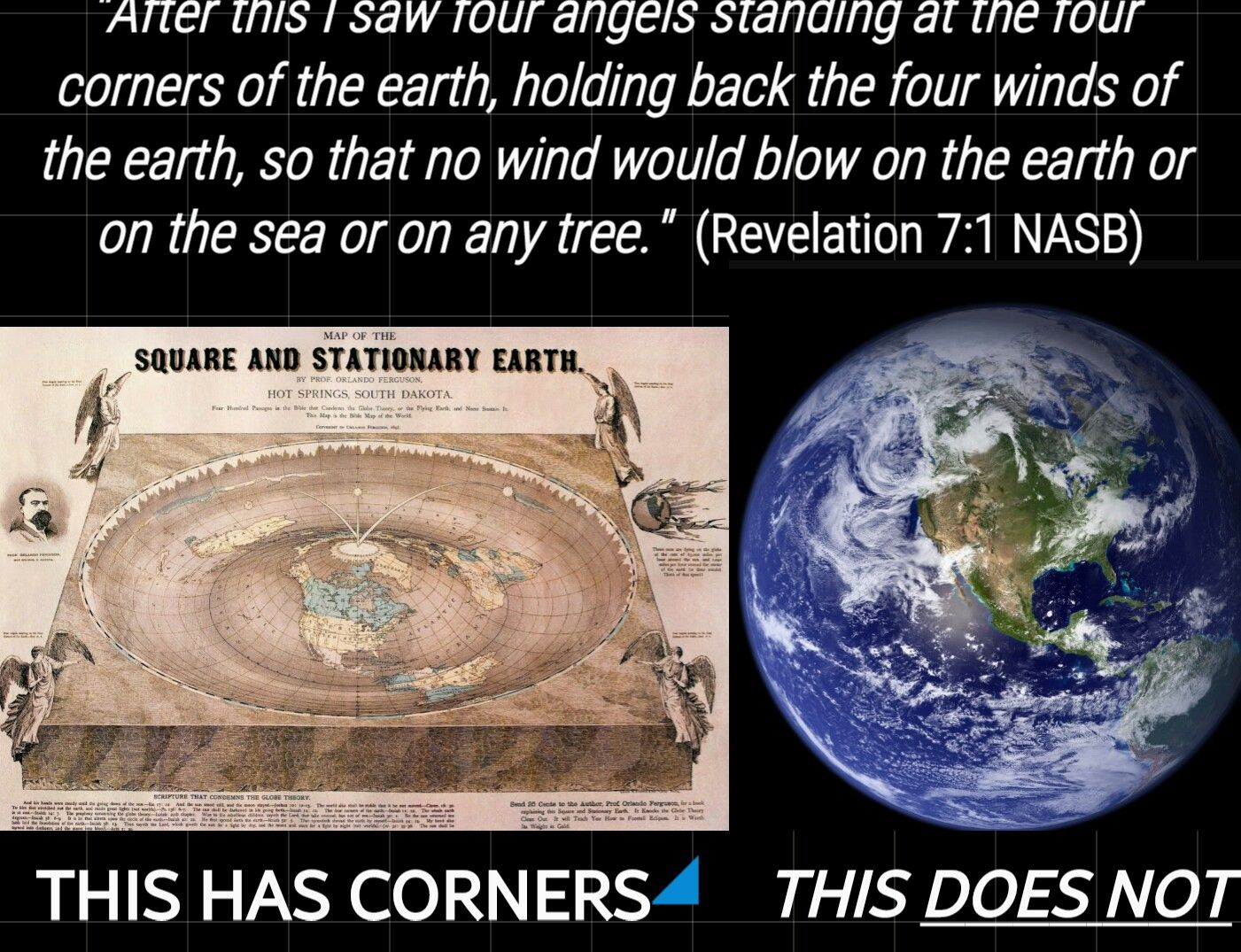 Four corners of the earth | Flat Earth proof | Flat earth proof