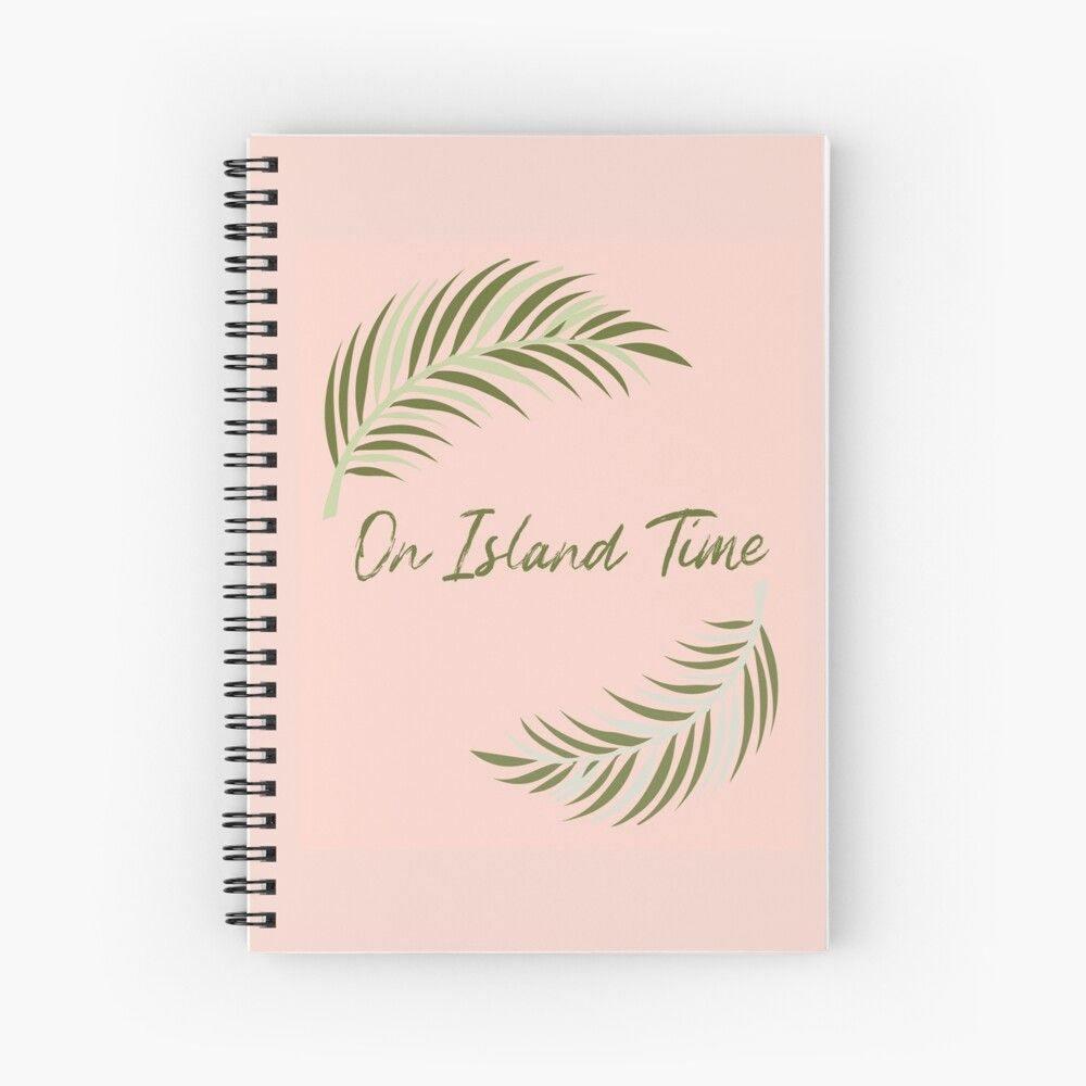 #onislandtime #tropicalnotebook #pinknotebook #spiralnotebooktropical #beachnotebook #spiralnotebookhawaii