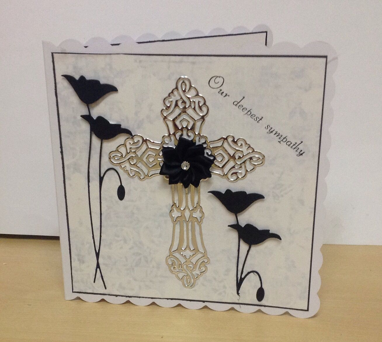 another sympathy card made with images  cards handmade