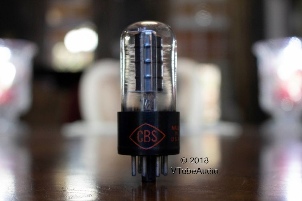 6v6gt Cbs Nos Clear Glass Tube Black Plate Bottom Dd Getter Kclhn