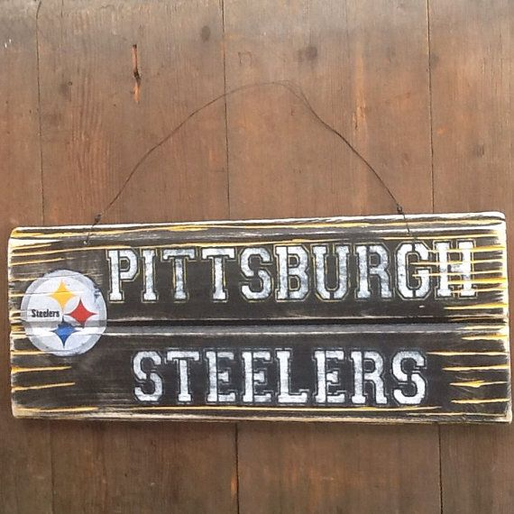 Pittsburgh Steelers Sign Reclaimed Wood Sign by WOODruSAYINSigns - Pittsburgh Steelers Sign Reclaimed Wood Sign By WOODruSAYINSigns
