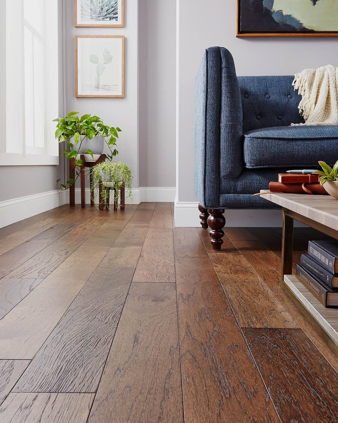 Henna From Our Final Touch Collection Is The Featured Color Of The Month See Our Site Dark Oak Flooring Engineered Hardwood Flooring Oak Oak Floor Living Room