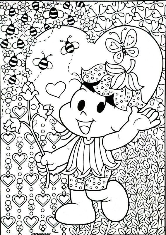 Turma Da Monica Com Imagens Turma Da Monica Colorir Desenhos