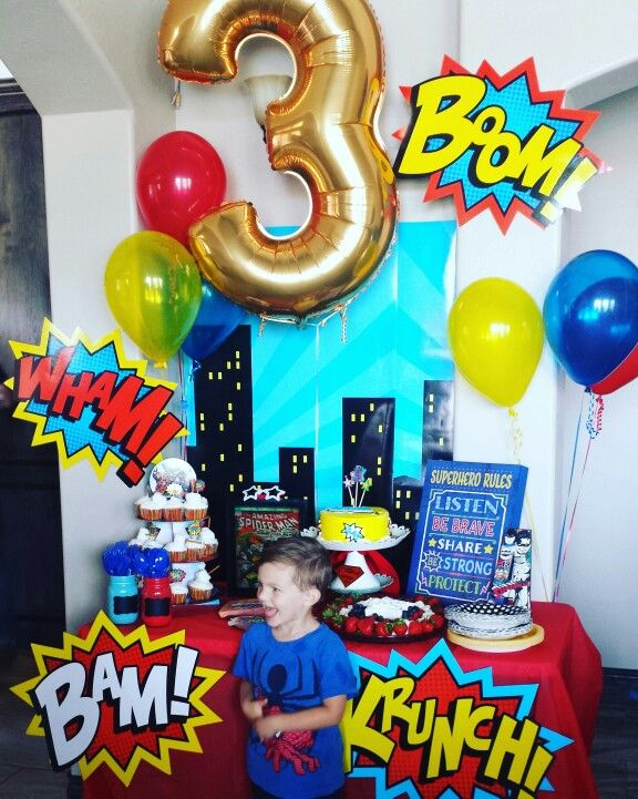 Super Hero Party Superman Birthday Party Marvel Birthday