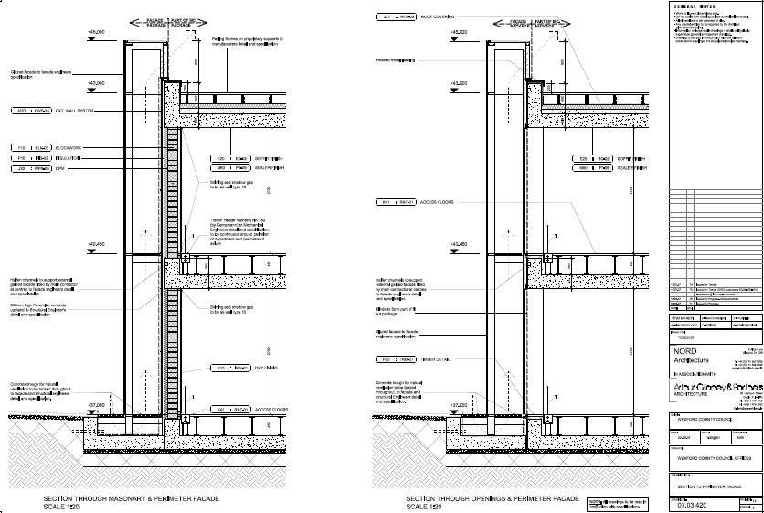 Detail Magazine Facades : Double facade wexford county council g