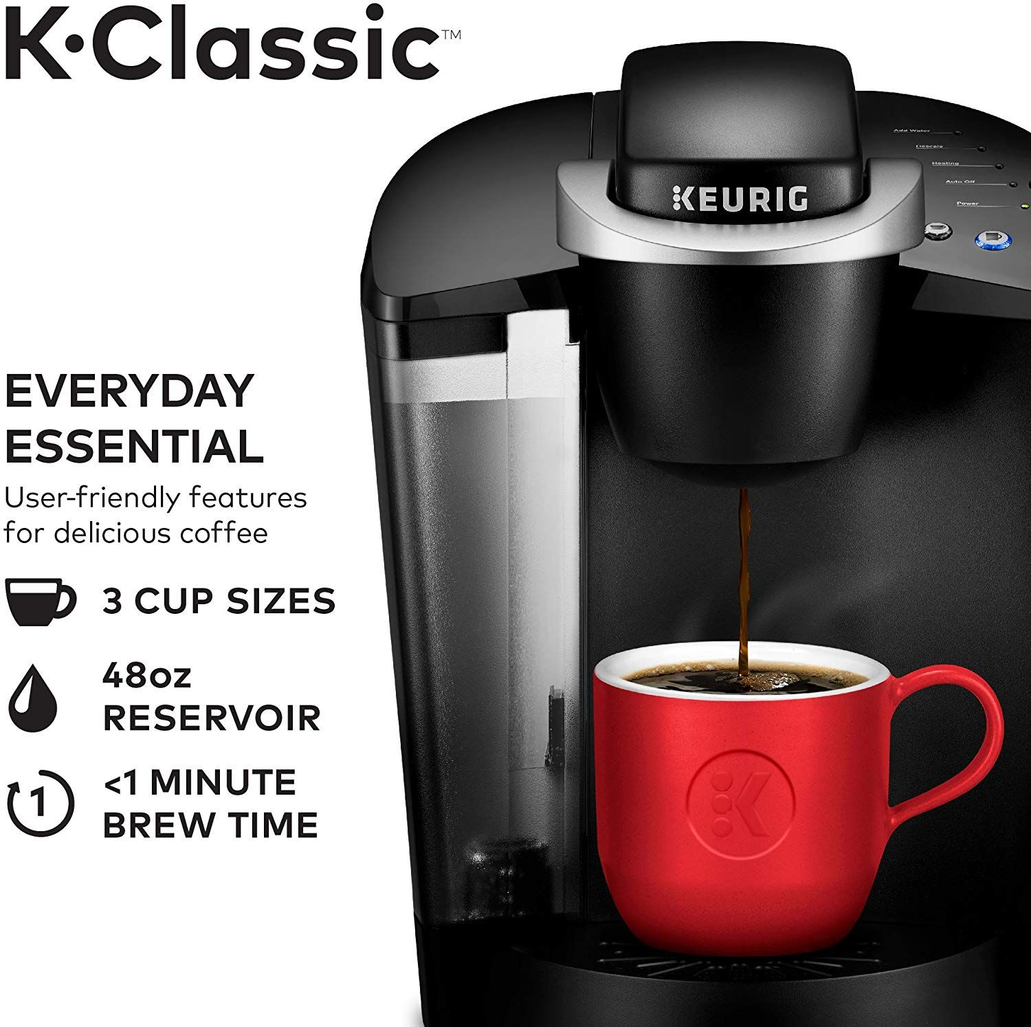Keurig K Classic Coffee Maker Single Serve K Cup Pod Coffee Brewer 6 To 10 Oz Brew Sizes Classic Coffee Maker Keurig Coffee Makers Single Cup Coffee Maker