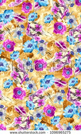 flower with digital background - buy this illustration on Shutterstock & find other images.