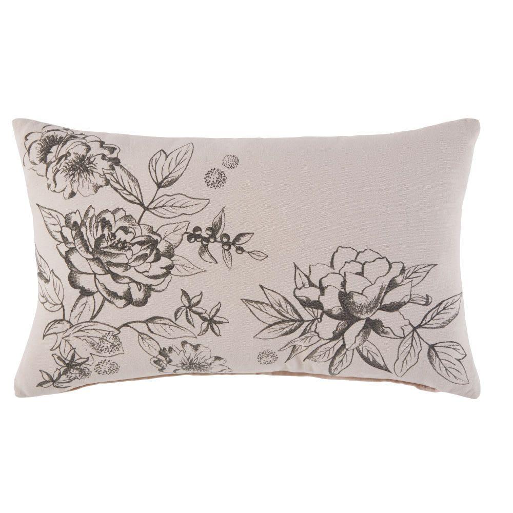 Kissen Aus Roséfarbener Baumwolle Mit Blumenmuster 30x50 Jacinthe Maisons Du Monde Kissen Blumenmuster Kleinmöbel