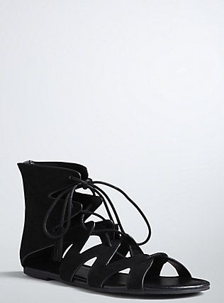 0bbe4c7907e3 Lace Up Gladiator Sandals (Wide Width)