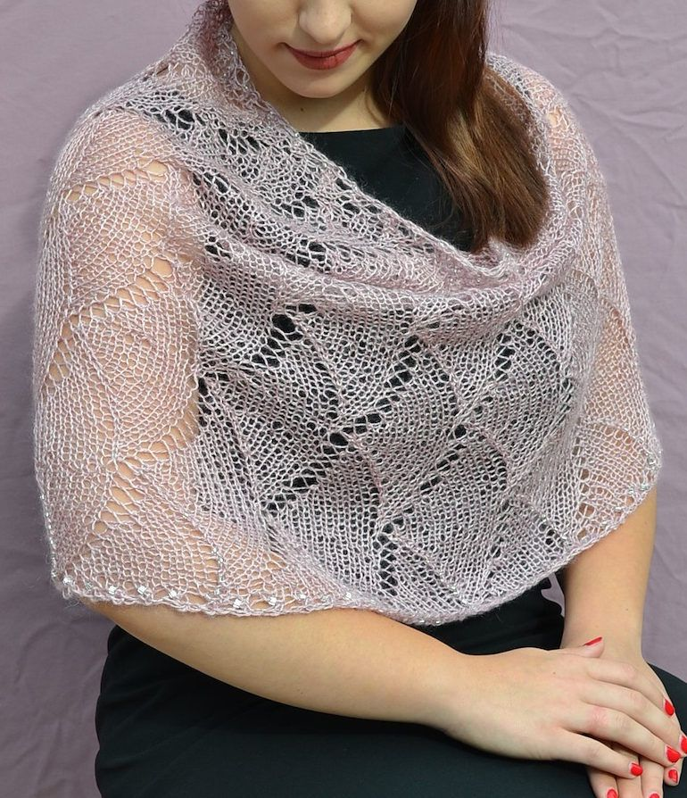 Free Knitting Pattern for Cascade Lace Shoulder Cowl - Elegant lace ...