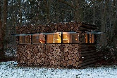 Wonderful Mini Wood Log Cabin On Wheels. Music Studio Commissioned By Hans Liberg And  Designed By Piet Hein Eek // Office In The Garden Idea?