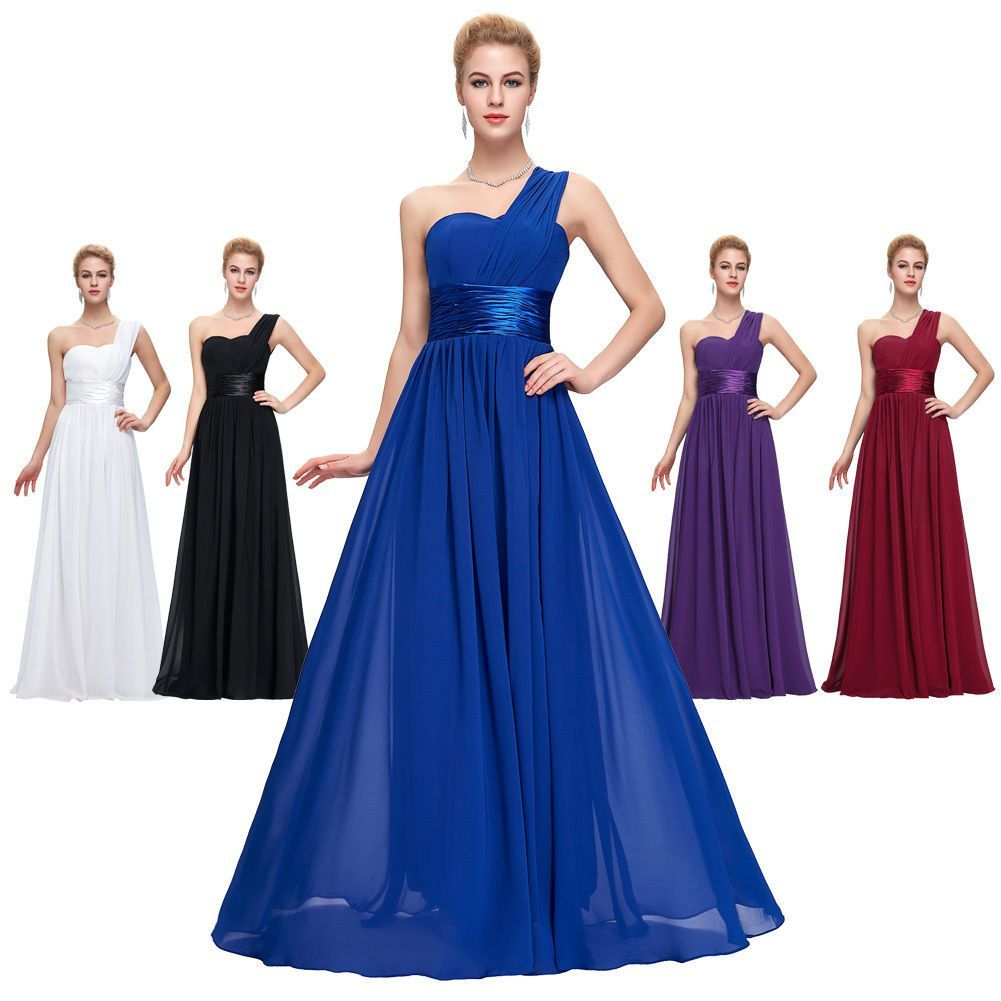 Womens Chiffon Long Prom Cocktail Dresses Evening Formal Party Bridesmaid Gowns