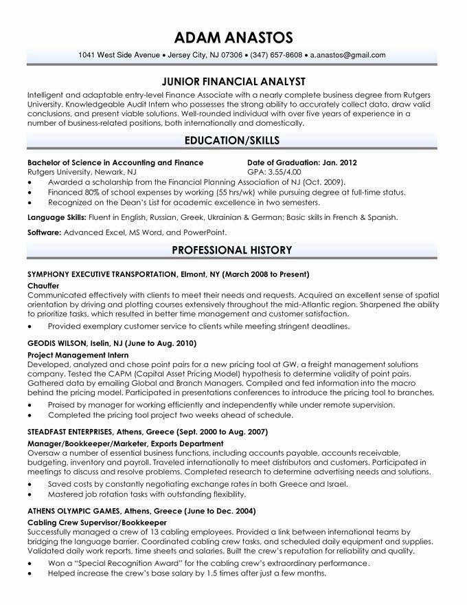 Resume Examples Recent Graduate Resume Examples Pinterest