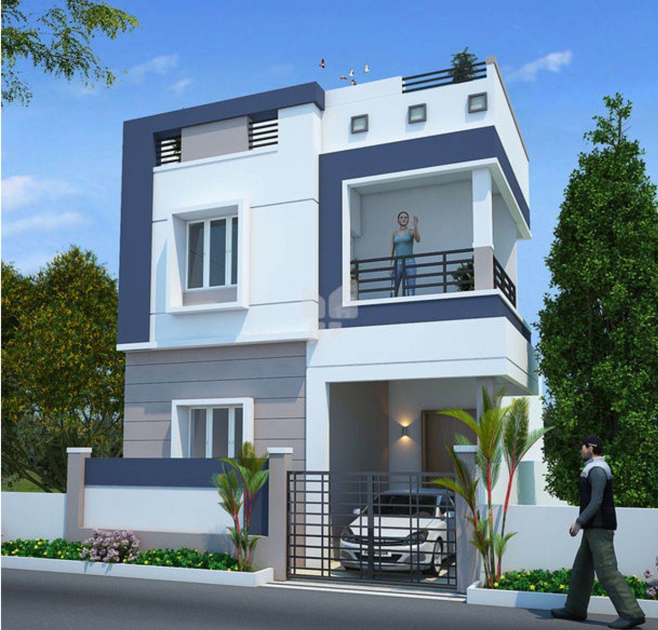 Two floors house... Small house plans, House styles