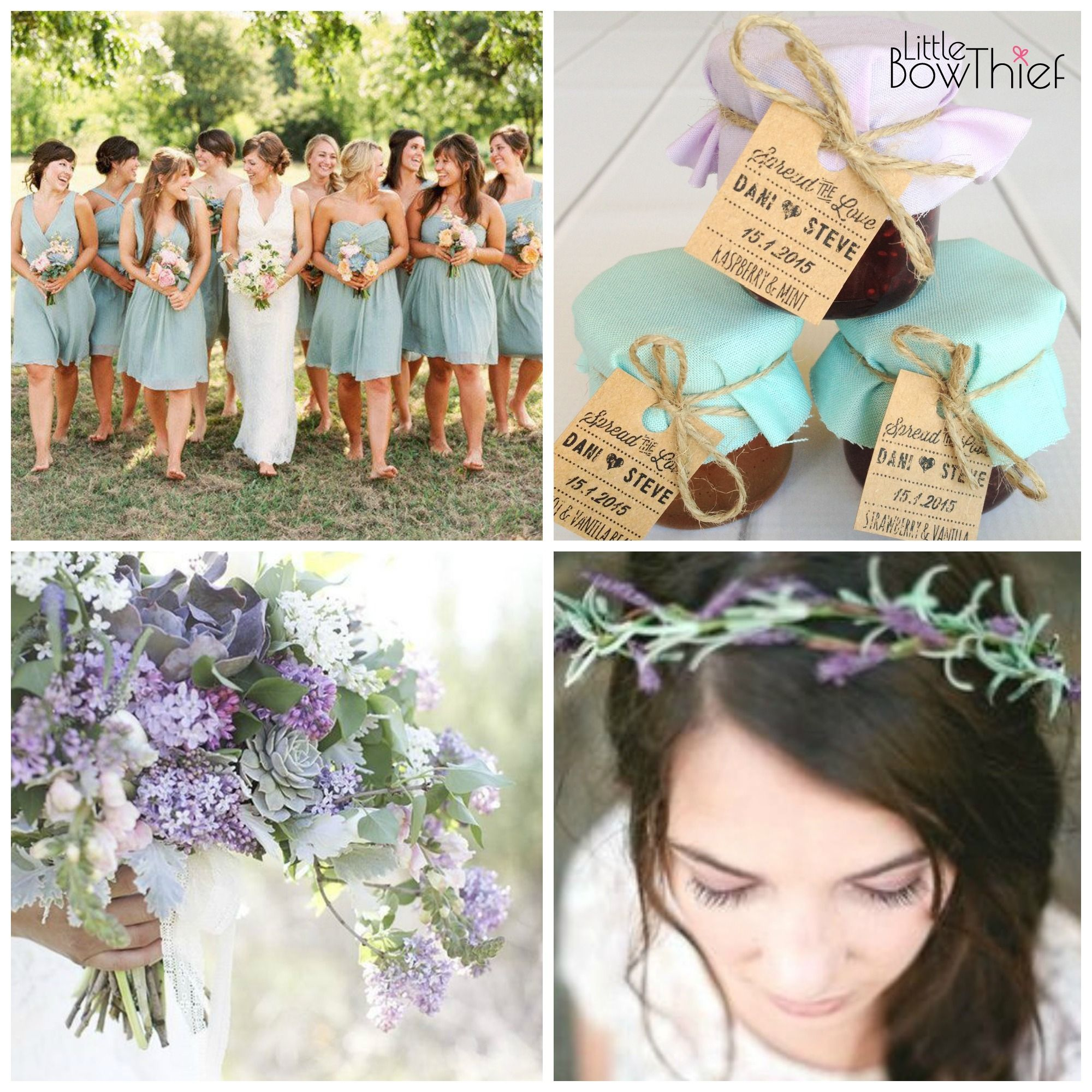 Lavender Mint Themed Wedding Mini Jam Favours By Little Bow Thief