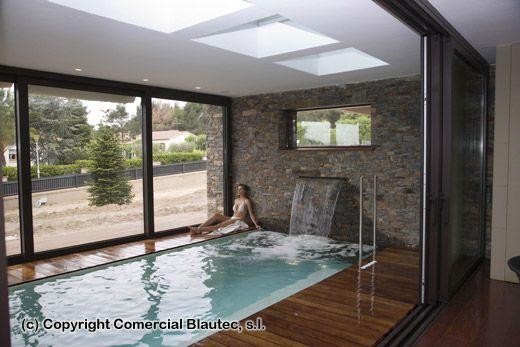 Casa con piscina climatizada buscar con google b2 arquitectura c lida y natural pinterest - Casa rural piscina interior ...