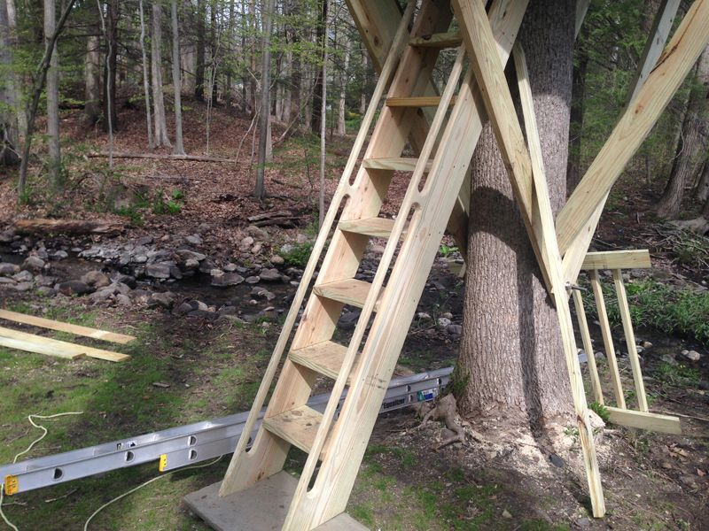 Delightful Tree House Stairs In Weston, CT
