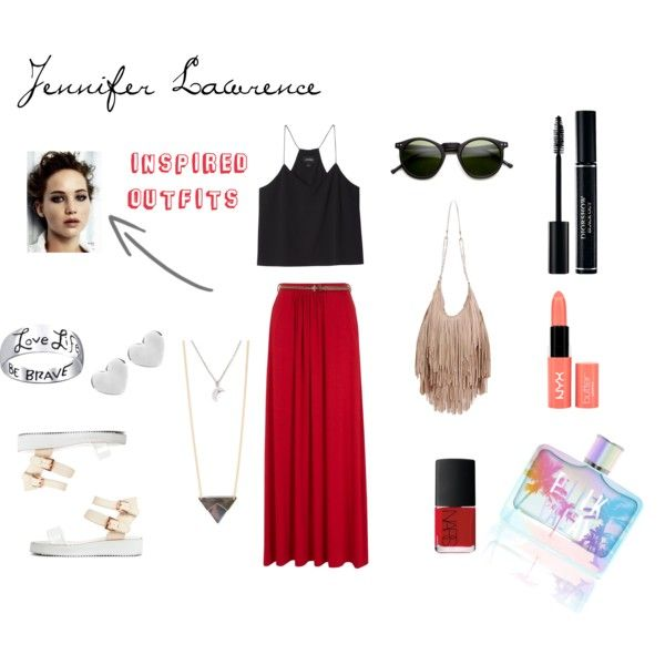 """""""Inspired Outfits: Jennifer Lawrence"""" by julissacevasco on Polyvore"""
