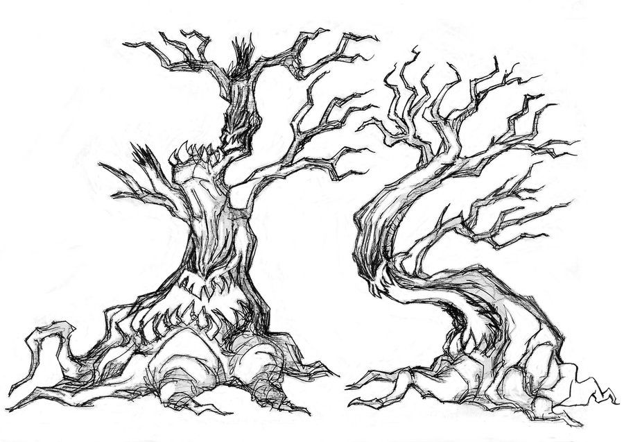Doodle Drawings Creepy Tree Doodle 001 by BDTXIII on