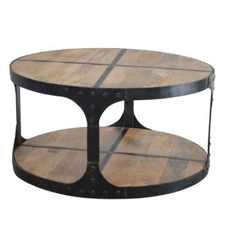 Phillips Wood And Cast Iron Coffee Table By Caribou Dane Furniture