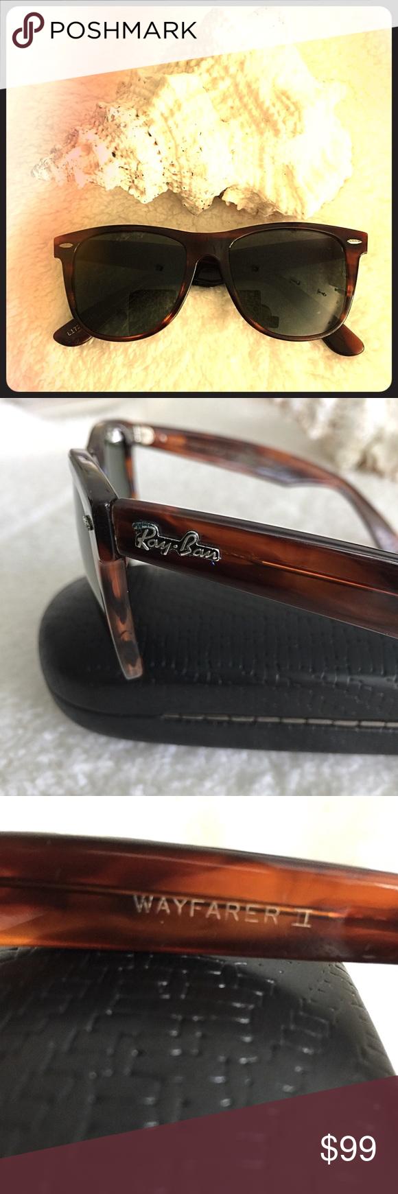 5fecf149d4 Vintage Ray Ban Wayfarer II Sunglasses L1725 😎 80 s Vintage Bausch    Lomb s Wayfarer sunglasses model