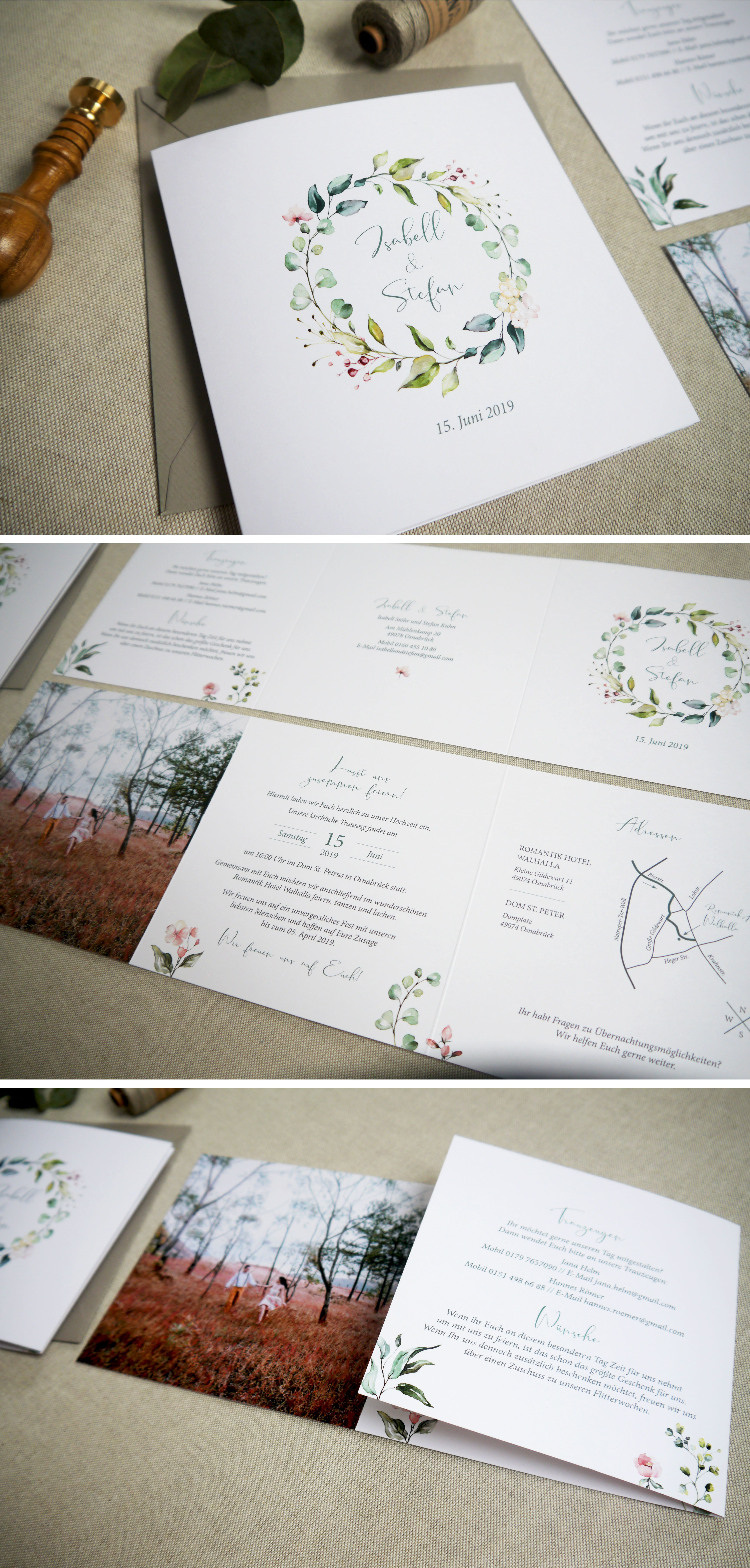 Photo of Invitation card Wedding   eucalyptus