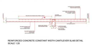 This Is A Typical Reinforced Concrete Cantilever Slab