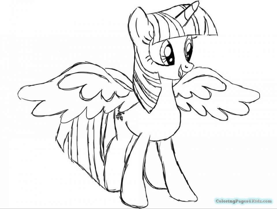 Twilight Sparkle Coloring Page My Little Pony Coloring My Little Pony Twilight Cartoon Coloring Pages