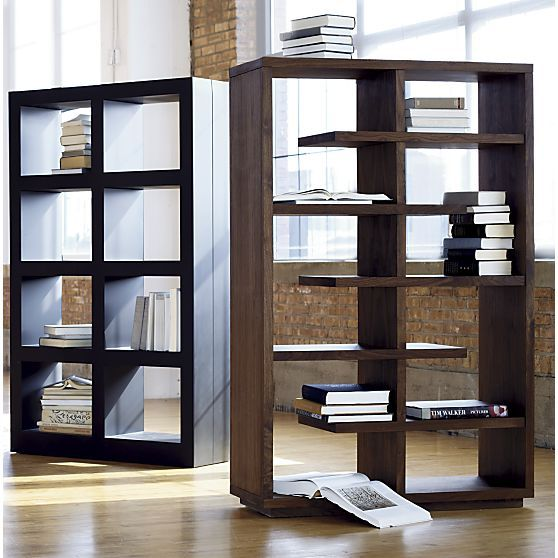"""Elevate Walnut 68"""" Bookcase In Bookcases, Shelves"""
