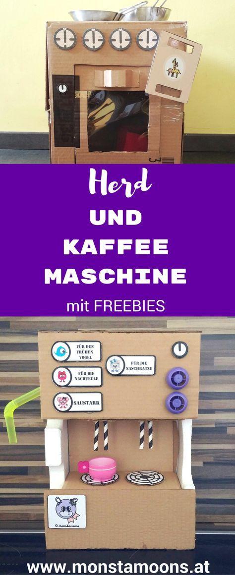 Basteln mit Karton, Kaffeemaschine basteln, DIY Kaffeemaschine ...