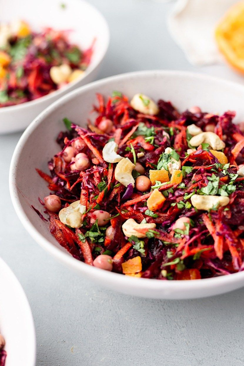 Winter Carrot Beetroot Salad