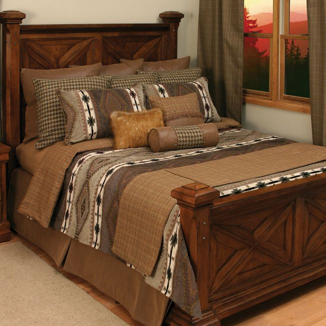 Apache Bedding Collection With Native American Inspired Diamond