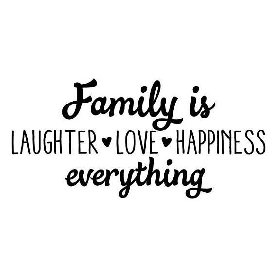 Family Is Laughter Love Happiness Wall Quote Decal