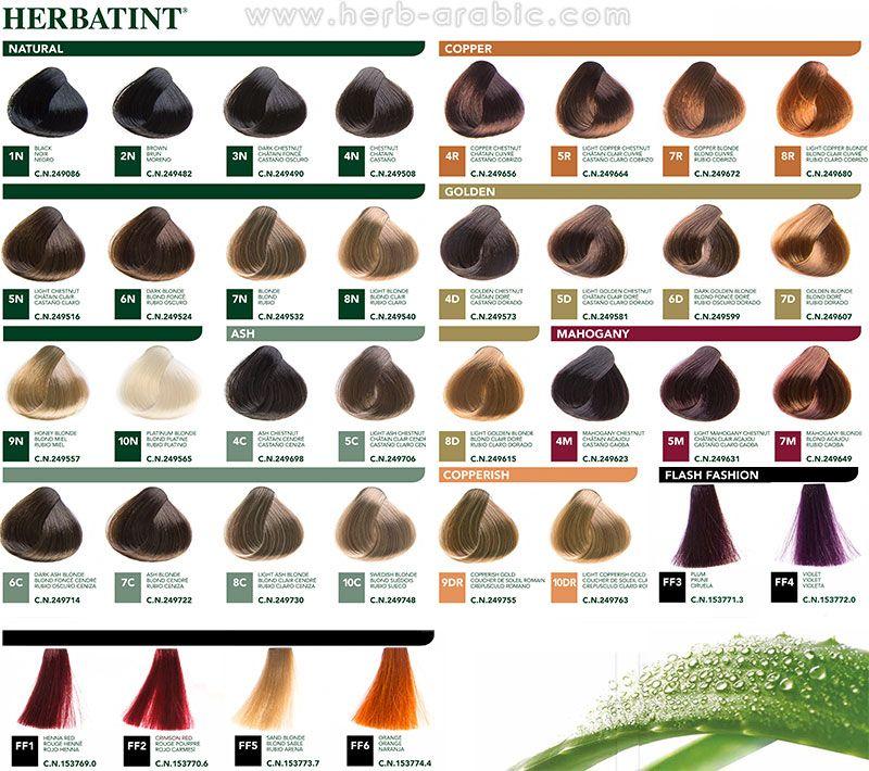 الوان صبغة هيرباتنت الايطالية للشعر Hair Color Reviews Herbatint Hair Color Hair Color
