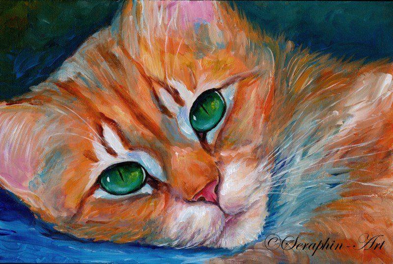 Pin Von Chrissyaddy Auf Pet Animals1 Original Gemalde Katzen
