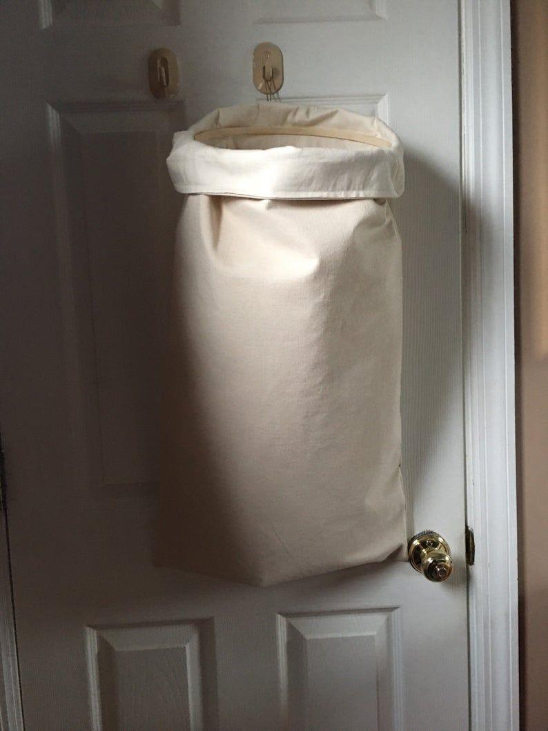 Natural Color Hanging Hamper Hanging Laundry Bag In 2020 Hanging Laundry Bag Simple Storage Laundry Hamper