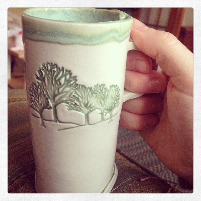 Love my new birthday mug! Thanks so much @raftfoo (mug handmade by @jessteesdale)