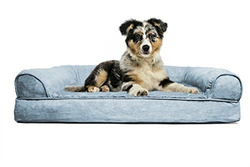 Furhaven Medium Plush Suede Orthopedic Sofa Pet Bed For Dogs And