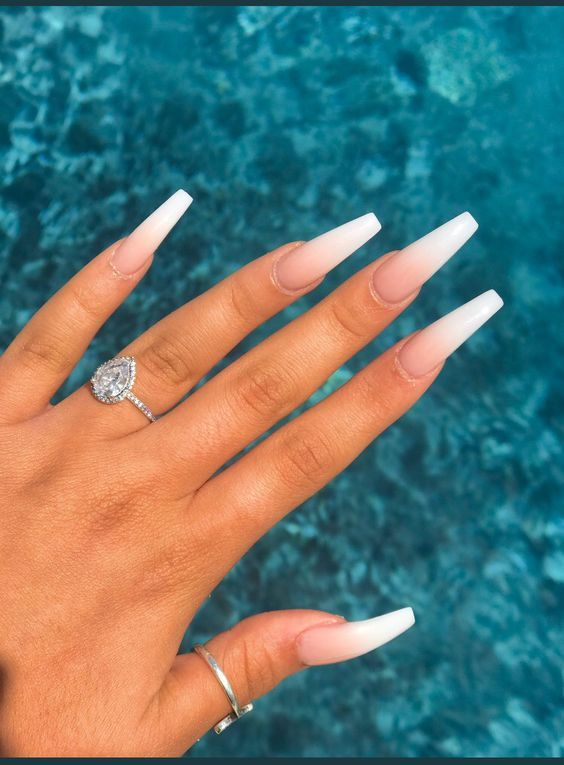 Are These Nail Goals Or Life Goals 3 Ombre Acrylic Nails White Acrylic Nails Short Acrylic Nails