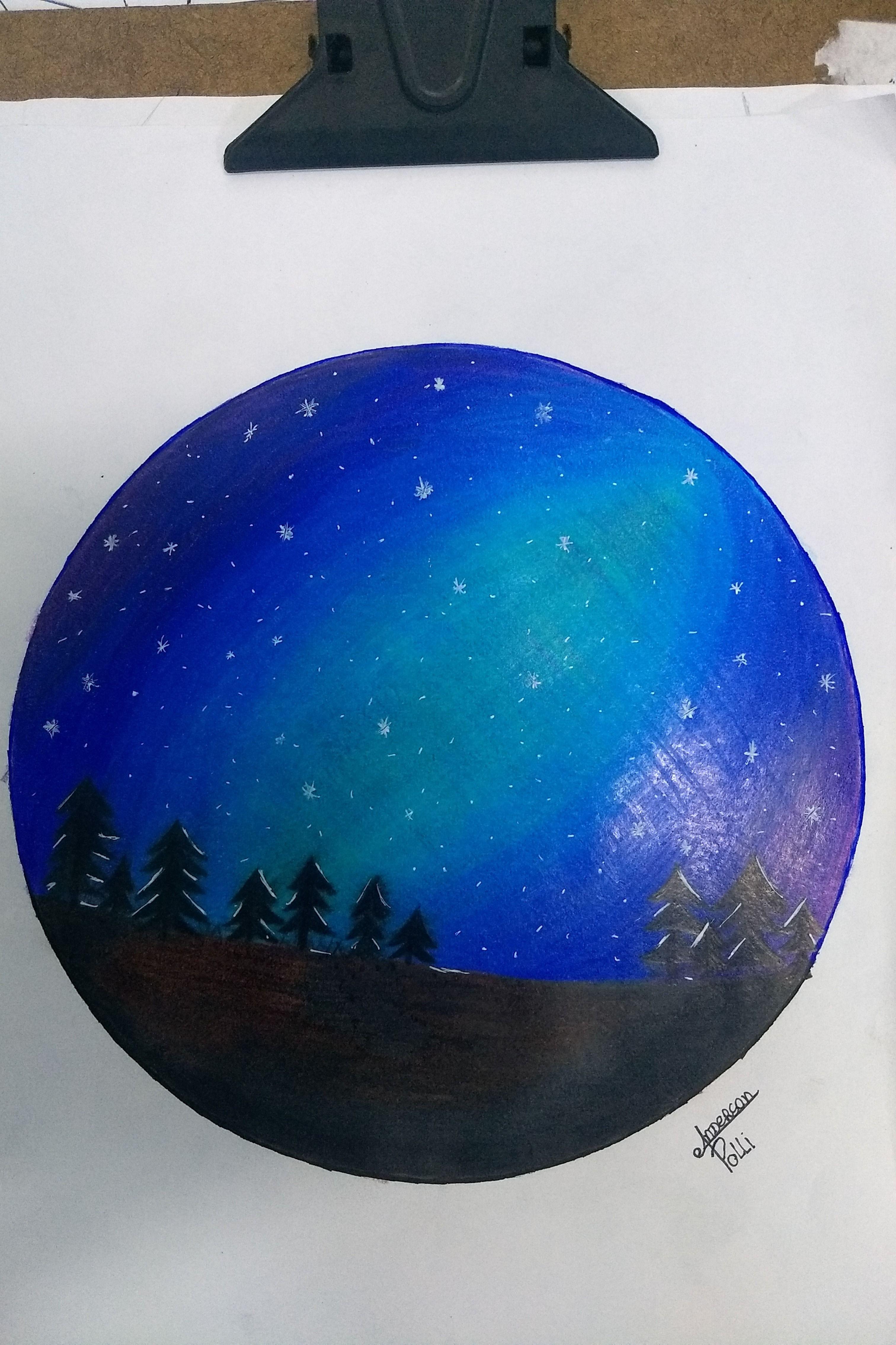 Uma Bela Noite De Inverno Desenhos Noite De Inverno Paisagens