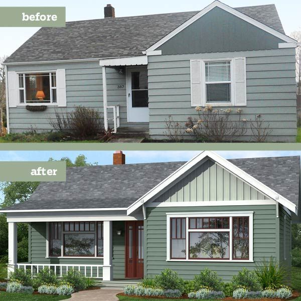 Illustration Drawgate Inc Thisoldhouse Com From Photoshop Redo Giving A Plain Box Period Charm Home Exterior Makeover Porch Remodel House Exterior