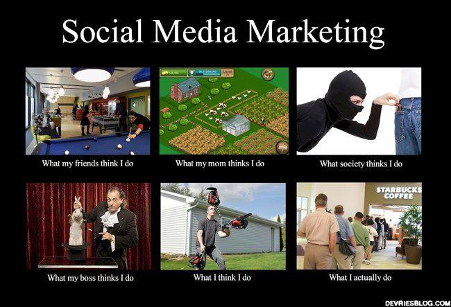 Social Media Marketing Social Media Humor Social Media Marketing Meme