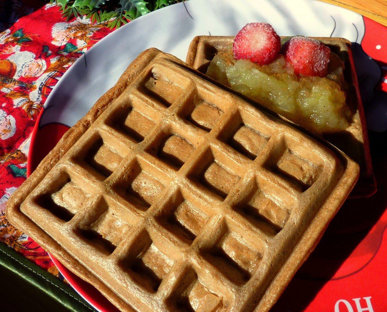 Waffles (gofres) sin gluten ni lácteos