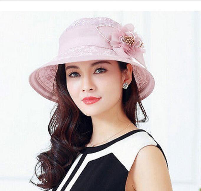 4c070b49f92 Chic Womens Summer Kentucky Derby Party Girls Sun Hat Church Dress Hat Cap   SunHatsForWomen