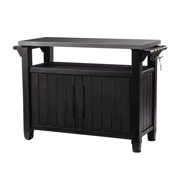Keter Unity Xl Bbq Grill Table Patio Storage Grill Table Outdoor Kitchen