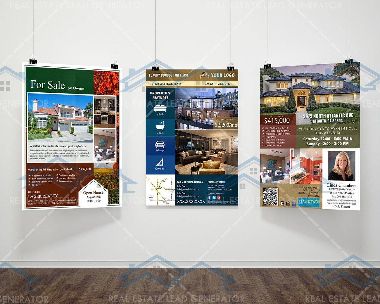 new listed realtor flyers real estate listing flyer custom 8 5x11 real estate marketing bundle 3 real estate listing flyers custom flyer designs