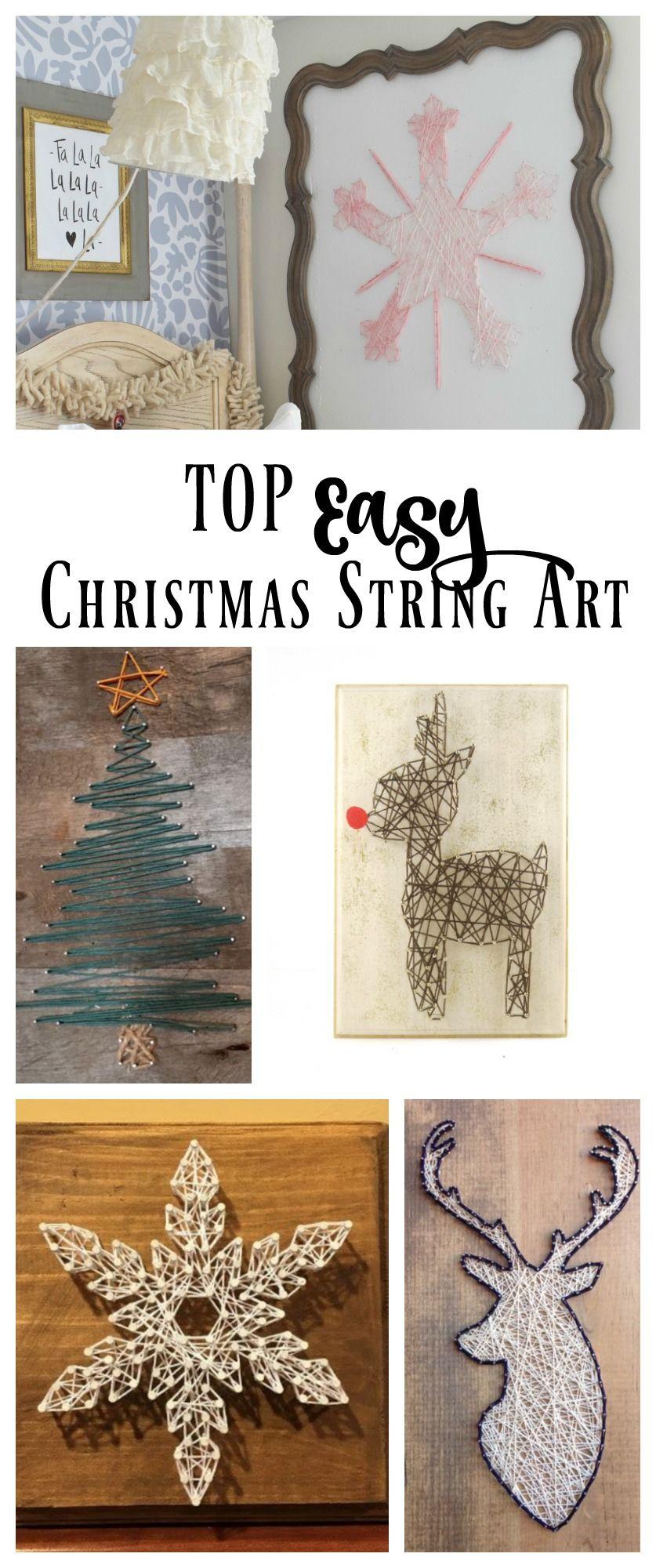 New String Art- For Christmas | Nagelbilder, Fadenbilder und Faden