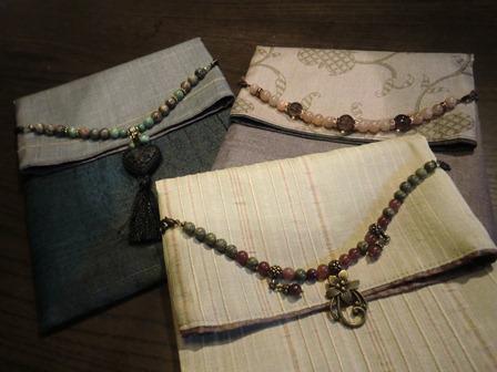野蚕糸 という着物地天然石をあしらいました。神社仏閣詣りのお供に ハンドメイド、手作り、手仕事品の通販・販売・購入ならCreema。